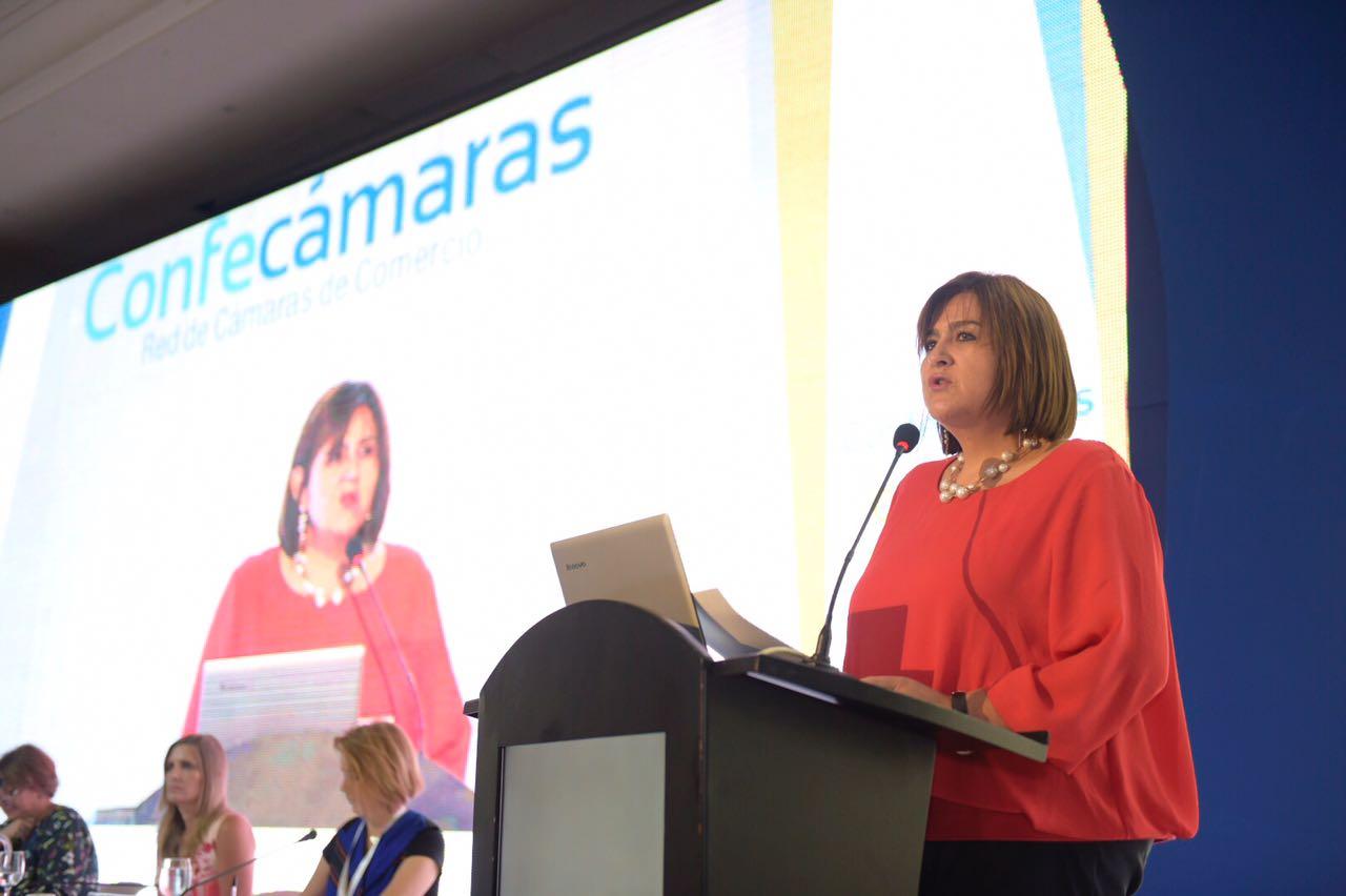 Ministra de Comercio, Industria y Turismo, María Lorena Gutiérrez
